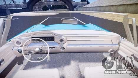 Cadillac Eldorado 1959 interior white para GTA 4 vista inferior