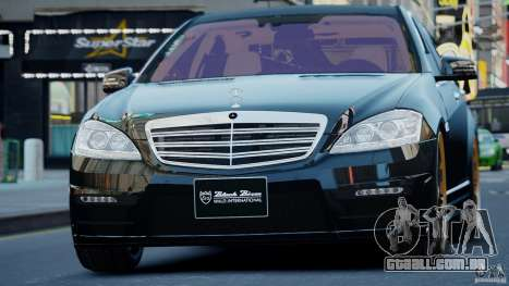 Mercedes-Benz S Class W221 Black Bison 2009 para GTA 4 traseira esquerda vista
