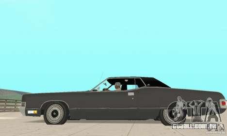 Mercury Marquis 2dr 1971 para GTA San Andreas esquerda vista