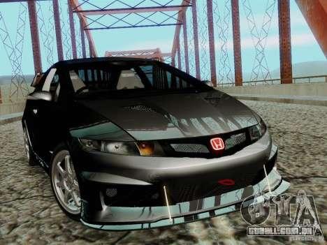 Honda Civic TypeR Mugen 2010 para GTA San Andreas traseira esquerda vista