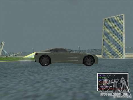 Aston Martin One 77 2011 para GTA San Andreas esquerda vista