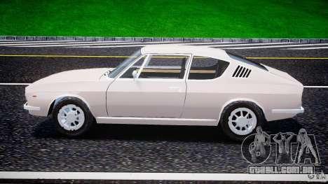 Audi 100 Coupe S para GTA 4 vista interior