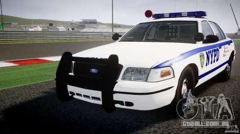 Ford Crown Victoria NYPD [ELS] para GTA 4 vista superior