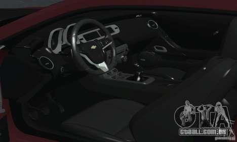 Chevrolet Camaro ZL1 2012 para GTA San Andreas vista superior