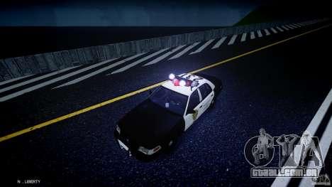 Ford Crown Victoria Raccoon City Police Car para GTA 4 vista superior