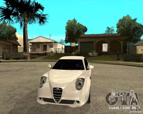 Alfa Romeo Mito para GTA San Andreas vista traseira