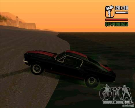 Shelby Mustang GT500 1967 para GTA San Andreas esquerda vista