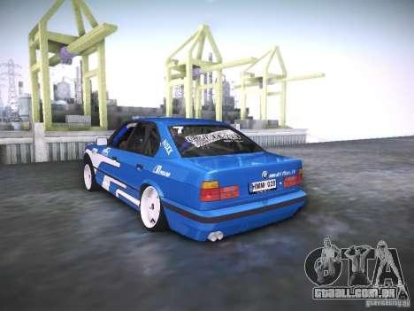 BMW E34 Drift para GTA San Andreas esquerda vista