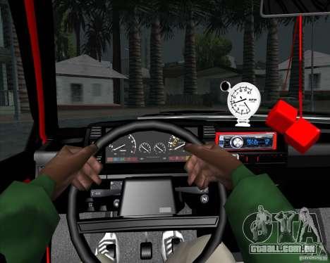 VAZ 2109 Drift para GTA San Andreas vista interior