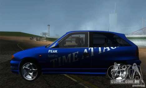 Opel Astra Time Attack para GTA San Andreas esquerda vista