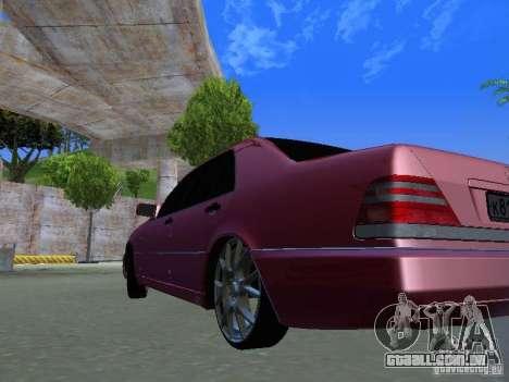 Mercedes-Benz S600 W140 v 2.0 para GTA San Andreas vista traseira