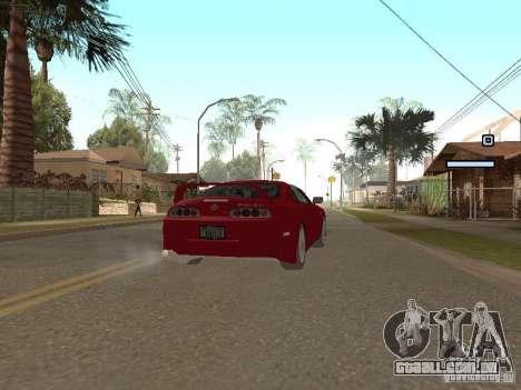 Toyota Supra para GTA San Andreas traseira esquerda vista