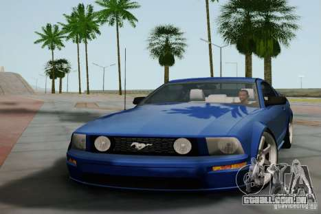Ford Mustang Twin Turbo para GTA San Andreas esquerda vista