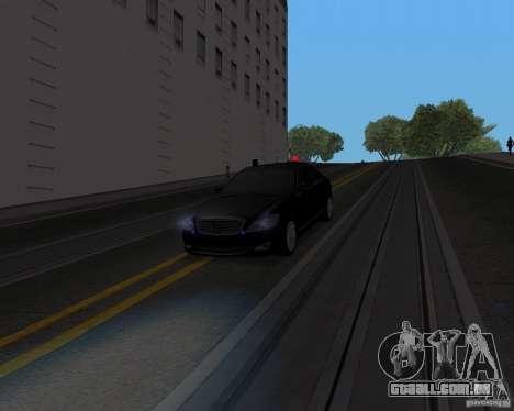 Mercedes Benz S500 w221 SE para GTA San Andreas vista direita