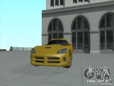 Dodge Viper SRT-10 (dourado Viper) para GTA San Andreas traseira esquerda vista