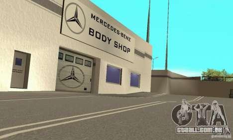 Mercedes Showroom v. 1.0 (Autocentre) para GTA San Andreas por diante tela