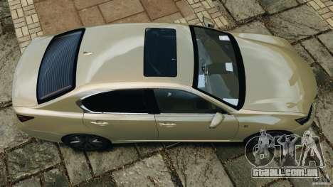 Lexus GS350 2013 v1.0 para GTA 4 vista direita