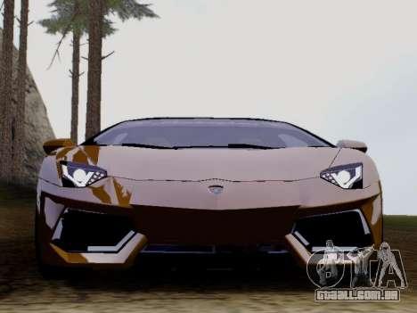 Lamborghini Aventador LP700-4 Vossen para GTA San Andreas esquerda vista
