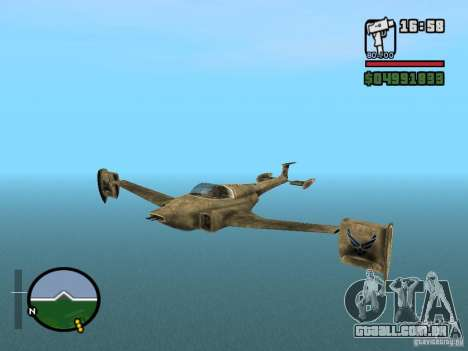 Future Army Jet para GTA San Andreas
