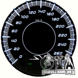 Velocímetro IV (pele 10) para GTA 4