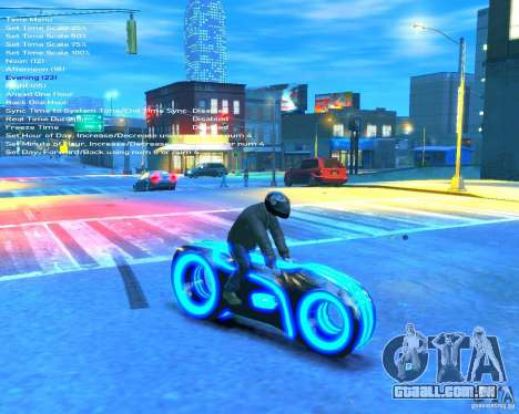 Motocicleta do trono (néon azul) para GTA 4 vista direita