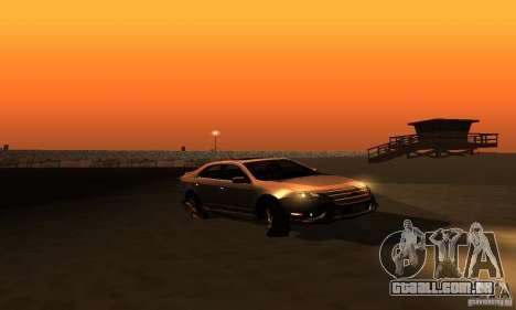 Ford Fusion Sport para GTA San Andreas vista direita