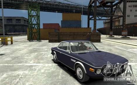BMW 3.0 CSL E9 1971 para GTA 4 vista de volta