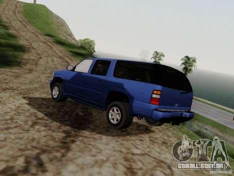 GMC Yukon Denali XL para GTA San Andreas esquerda vista