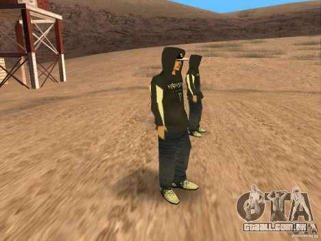 Ken Block Family para GTA San Andreas por diante tela