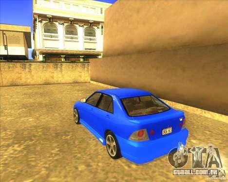 Toyota Altezza RS200 1998 para GTA San Andreas esquerda vista