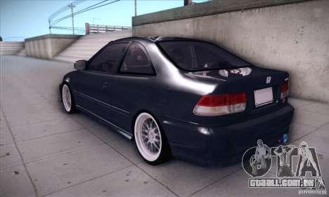 Honda Civic 6Gen para GTA San Andreas traseira esquerda vista