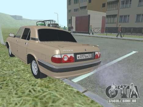 GAZ 3110 Volga para GTA San Andreas vista direita