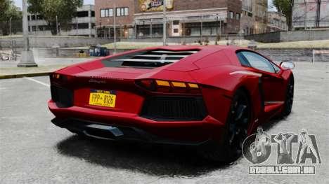 Lamborghini Aventador LP700-4 2012 v2.0 EPM para GTA 4 traseira esquerda vista