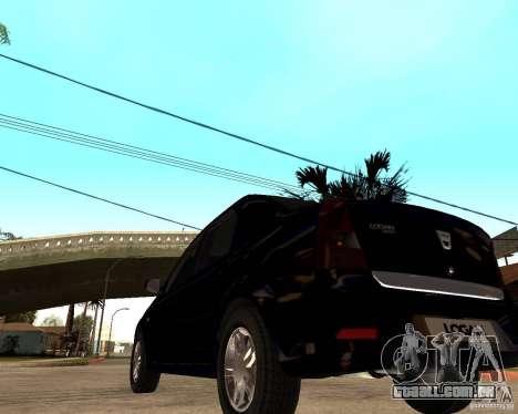 Dacia Logan 2008 para GTA San Andreas traseira esquerda vista