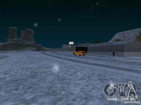 Neve para GTA San Andreas nono tela