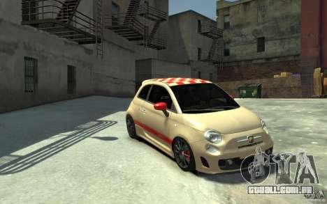 Fiat 500 Abarth Esseesse V1.0 para GTA 4 vista de volta