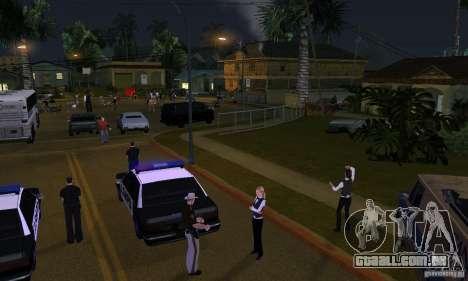 Projeto x na Grove Street para GTA San Andreas segunda tela