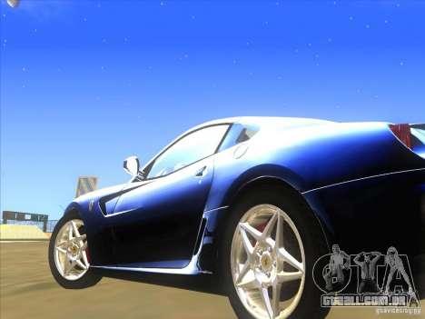 Ferrari 599 GTB Fiorano para GTA San Andreas vista interior