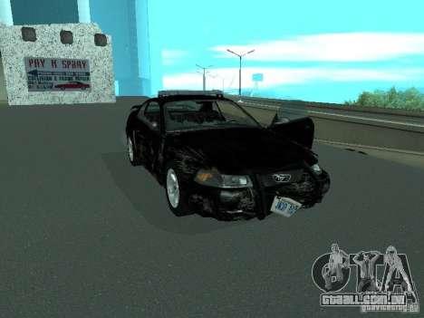 Ford Mustang GT Police para vista lateral GTA San Andreas