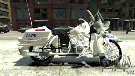 Police Bike para GTA 4 esquerda vista