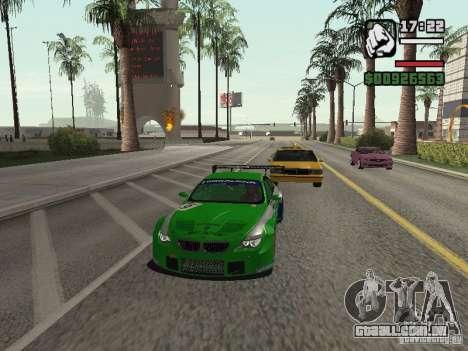 Alpina B6 GT3 para GTA San Andreas traseira esquerda vista