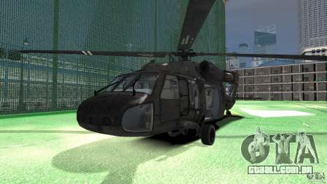 Sikorsky UH-60 Black Hawk para GTA 4 esquerda vista
