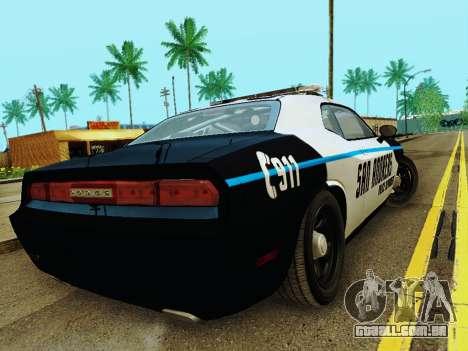 Dodge Challenger SRT8 2010 Police para GTA San Andreas vista direita