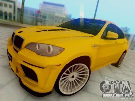 BMW X6 Hamann para GTA San Andreas vista interior