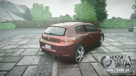 Volkswagen Scirocco 2.0 TSI para GTA 4 vista lateral