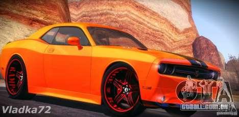 Dodge Quinton Rampage Jackson Challenger SRT8 v1 para GTA San Andreas