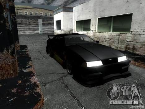 Barão de vinil de Most Wanted para GTA San Andreas traseira esquerda vista