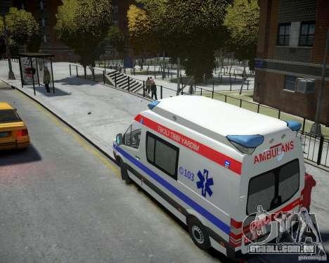 Mercedes-Benz Sprinter Azerbaijan Ambulance v0.2 para GTA 4 traseira esquerda vista