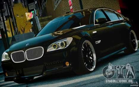 Bmw 750li Hamann para GTA 4 vista de volta
