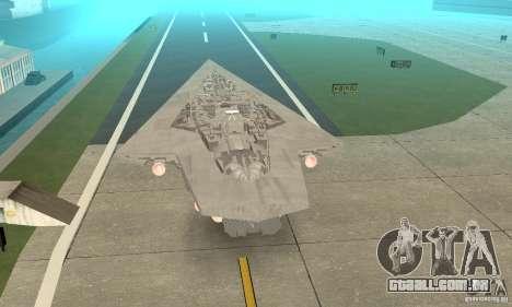 Executor Class Stardestroyer para GTA San Andreas esquerda vista